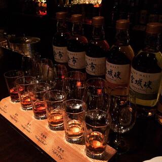 ニッカ ブレンダーズ・バー - ウイスキー飲み比べ!