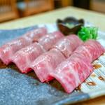 焼肉たまき - ☆黒毛和牛大トロ 炙り寿司