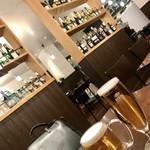 ディアボロ バンビーナ ドゥエ - ちょい飲み¥1620(外税)のビール(左) ちょい飲みAセット¥780(外税)のビール(右)