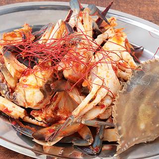 豊富な魚料理◎【究極のアヒージョ】&限定【渡りガ二ケジャン】