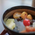 """舟和 - """"蜜豆(みちまめ)""""、橘(みかん)"""