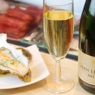 牡蠣とワイン立喰いすしまる
