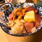 石松亭 - きたっ!づけウニ丼!づけ鮪と期待以上なウニの盛り付け!