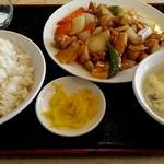 中華料理 大陸 - 鶏肉の四川風炒め定食
