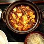 水漫庭 - 料理写真:本格麻婆豆腐 ランチのCセット 900円