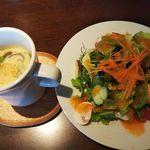 103172521 - 茶碗蒸し・サラダ(うどんランチ)