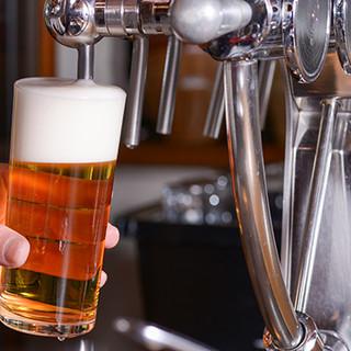 新鮮なビールを、注ぎたてでグイっと!!