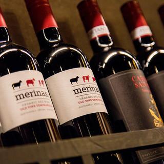 自慢のお肉に合う、世界各国の厳選ワイン