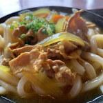 上野製麺所 - ルーはサラサラ・スパイシーtype、けっこう具沢山です。