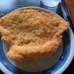 上野製麺所 - チキンカツ・・・めちゃデカいの♬