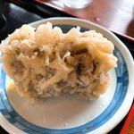 上野製麺所 - マイタケ天・・・立つんですw