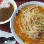 山田うどん - 料理写真:ピリ辛味噌ラーメン+ミニカレー丼