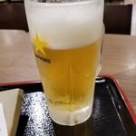 つけ蕎麦 えび福 - ビール