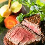 赤ふじ - 肉汁も封じこめたステーキ