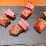 鉄板 ビストロ 恵比寿 - 黒毛和牛サーロインステーキ