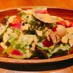 鉄板 ビストロ 恵比寿 - 彩り野菜のサラダ