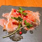 鉄板 ビストロ 恵比寿 - 前菜の盛り合わせ   スペイン産の熟成生ハム