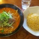 中華料理 王道楼 - 本日のランチCセット(担々麺と半チャーハン) 800円