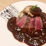 103192954 - 讃岐オリーブ牛とフォアグラのステーキ(¥1680税別)