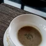 鉄板焼 「金葉亭」 - ゴボウのスープ
