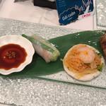 チャオサイゴン - 生春巻き、青パパイヤとマンゴーのサラダ、揚げ春巻き