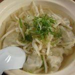 あづまやらーめん - 「スープ餃子」600円
