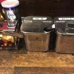 一閃閣 - ニンニク、辛子高菜、紅生姜です