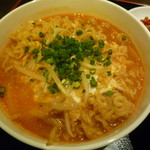 103200197 - 焼肉 丸萬 韓国ラーメン ミニハラミ丼セット (三宮)