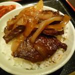 103200219 - 焼肉 丸萬 韓国ラーメン ミニハラミ丼セット (三宮)