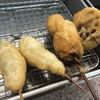 近江屋 本店 - 料理写真:串カツ×2、カキ、蓮根