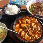 台湾料理 太和菜工坊 - 「麻婆豆腐セット」スープは「台湾ラーメン」に変更