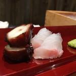 北新地 鮨 なか川 - 蛸柔らか煮  鯛お刺身