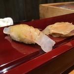 北新地 鮨 なか川 - 鯛握り 白酢