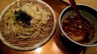 双麺 錦糸町店 - 極太平打ちつけ麺醤油