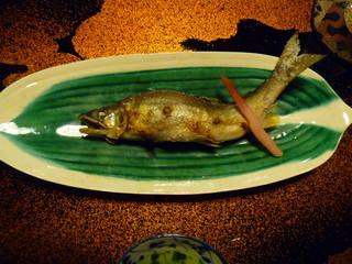 一風庵 - 神通川の鮎は質・大きさともになかなかの美味