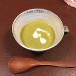 ジャム cafe 可鈴 - 【必ず最初に出てきます】今週の週替わりランチ(1,050円)の野菜のポタージュ