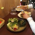 ジャム cafe 可鈴 - 【週替わりランチ(1,050円)】娘はパンに付いてくる手作りジャムが特に好きなんです(^^)