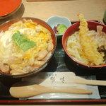 勝味 - 親子丼と半讃岐うどんセット