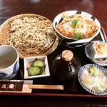 手打ちそば 悠久庵 - カツ丼セット(もりそば) ¥900-