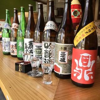 日本酒も豊富に取り揃えております!