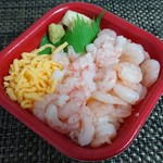 海の宝 丼丸 - エビ二色丼