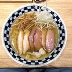 超多加水自家製手揉み麺 きたかた食堂 - 塩煮干し肉そば 並(950円)