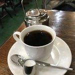 アルファ - 温かいコーヒ