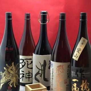 三船ではプレミアム日本酒・焼酎含めて25種以上の銘柄をご用意