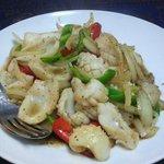 チェンマイ - イカの胡椒炒め