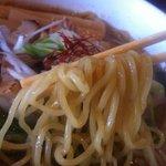 らぁめん翠蓮 - 濃いめ焼き干し醤油(麺)