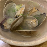 和食と鮨のに条 - あさりの酒蒸し