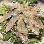 神田箸庵 - 鯛の刺身サラダ仕立て ごま風味