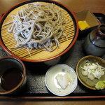 赤土 - 11月のみ、「十割蕎麦 ¥1.200」