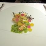 神田末広町 イタリアンレストラン ラレンツァ - 鮮魚のポワレ 春キャベツとオレキエッテを添えて